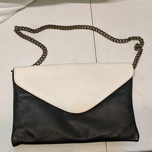 J Crew black and white handbag new with tags